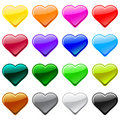Vector love heart button icons, samples Stock Photos