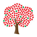 Vector love tree Royalty Free Stock Images