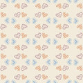 Vector love wallpaper. Seamless pattern background with hearts. Amour decoration. Celebration for Valentines day.