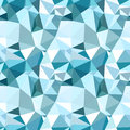 Vector low poly seamless pattern blue winter trendy polygonal abstract background Royalty Free Stock Photography