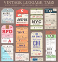 Vector Luggage Tags Royalty Free Stock Photo