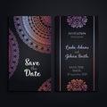 Vector luxury wedding invitation with mandala