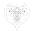 Vector magic alchemy symbol. geometric logo for spirituality, occultism, tattoo art and print. ideal for imagination Royalty Free Stock Photo