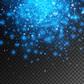 Vector magic blue glow light effect isolated on transparent background. Christmas design element Royalty Free Stock Photo
