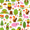 Vector magic forest cartoon background