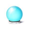 Vector magic spiritual ball empty snowglobe on metal base Royalty Free Stock Image