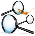 Vector magnifying glass Royalty Free Stock Images