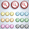 Vector - Magnifying Lens Button Set Icon Royalty Free Stock Photo