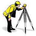 Vector man surveying Royalty Free Stock Photography