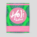 Vector mandala Holi. Happy Holi festival greeting card design with Mandala. Oriental pattern, vector illustration. Islam