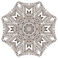 Vector mandalapattern of henna floral elements