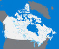 Vector map Canada Royalty Free Stock Images