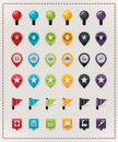 Vector map markers set Royalty Free Stock Image