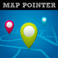 Vector map pointer isolated from background layered Royalty Free Stock Photo