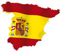 Vector map of Spain Stock Images