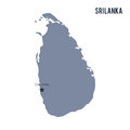 Vector map of Sri Lanka isolated on white background.