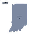 Vector map State of Indiana isolated on white background. Royalty Free Stock Photo