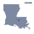 Vector map State of Louisiana isolated on white background. Royalty Free Stock Photo