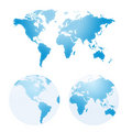 Vector maps of earth Royalty Free Stock Photo