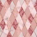 Marble Luxury and Snakeskin Geometric Seamless Pattern