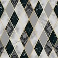 Marble and Snakeskin Luxury Geometric Seamless Pattern