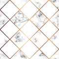 Vector marble texture, seamless pattern design with white squares