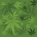 Vector marijuana background green with leaves Royalty Free Stock Photography