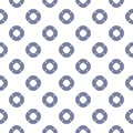 Vector maritime seamless pattern with swim ring icons in blue and white colors