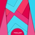 Vector material design background. Abstract creative concept layout template. For web and mobile app, paper art