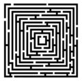 Vector maze Royalty Free Stock Images