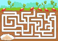 Vector maze game with find ant room Royalty Free Stock Photo