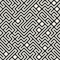 Vector maze geometric seamless pattern blanco y negro Foto de archivo