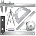 Vector Measuring Tools Royalty Free Stock Photo