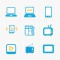 Vector Media Icons set