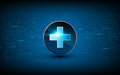 Vector medical health care sci fi design background technology innovation concept