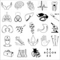 Vector medical icons Royalty Free Stock Images