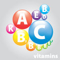 Vector medical logo vitamins useful products Stock Image