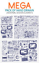 Vector mega collection of hand drawn technology elements Royalty Free Stock Photo