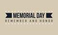 Vector of memorial day theme