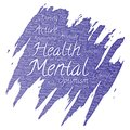 Vector mental health positive thinking paint brush Royalty Free Stock Photo