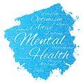 Vector mental health or positive thinking paint Royalty Free Stock Photo