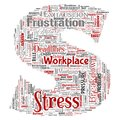 Vector mental stress at workplace job pressure human Royalty Free Stock Photo