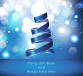 Vector merry christmas and happy new year card des greeting Stock Images