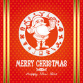 Vector merry christmas poster santa claus Royalty Free Stock Photography