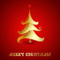 Vector merry christmas tree background eps Royalty Free Stock Photo