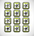Vector metal keypad for web and mobile Royalty Free Stock Image