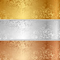 Vector metal textures illustration of Royalty Free Stock Photo