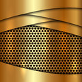 Vector metallic gold cell decorative background Royalty Free Stock Photo