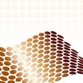 Vector metallic gold Wave Royalty Free Stock Images