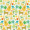 Vector Mexico seamless pattern. Mexican background